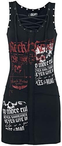 Rock Rebel by EMP Stay A Little Longer Mujer Vestido Corto Negro 3XL