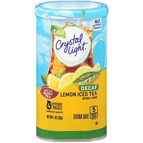 Crystal Light Decaffeinated Lemon Iced Tea Drink Mix (48 Pitcher Packets, 12 Packs of 4)