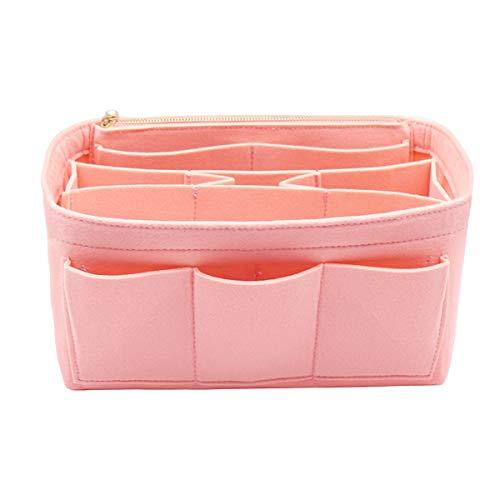 LEXSION Felt Handbag Organizer,Insert purse organizer Fits Speedy Neverfull 8001 Pink L