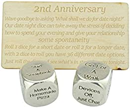 2 Year Anniversary Metal Date Night Dice - Create a Unique 2nd Anniversary Date Night
