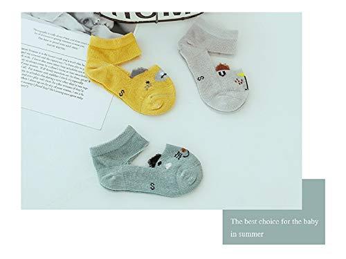 Bébé Cadeau doux 3 paires de chaussettes de coton en maille enfant enfants d'été courte tube Bas (Multicolor)