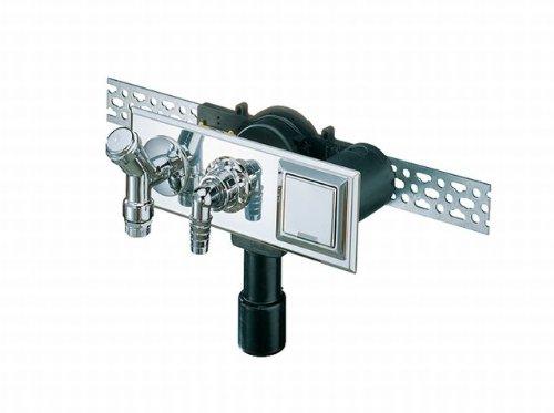 DALLMER Wandeinbau-Waschgeräte- Siphon 406 E,mit integrierter Wasserversorgung sowie Elektroanschluss für ein Waschgerät