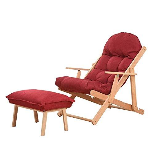 Folding Chair Garden Patio Camping Beach Chair Portable Recliner Armchair Sun Lounger Fold Up Wooden (color: Blue, Size: T2)