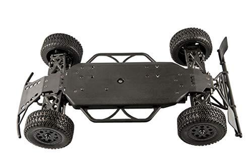 RC Auto kaufen Short Course Truck Bild 3: LC-Racing Mini Brushed Off-Road Short Curse Truck 1:14 RTR EMB-SCL | das perfekte Fahrzeug zum Einstieg in den RC-Car Sport | Brushed Antrieb | ca. 30 Km/h schnell | 4-Rad Antrieb | komplett Kugelgelagert | Öldruckstoßdämpfer einstellbar | Aluminium Kardanwelle | gekapselter Antrieb | Carbon Tuningteile erhältlich | Schnellladegerät und Fahrakku inklusive | diverse Umbaumöglichkeiten | viele Tuningteile erhältlich | Umbau auf Brushless möglich | sehr stabil durch Nylonkunststoff*