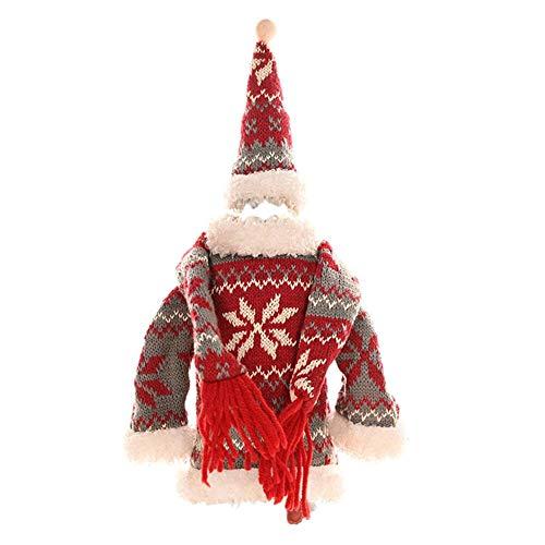 Ritapreaty Couverture de Bouteille de vin de Noël, Veste de Tasse de vin Rouge de Champagne pour la décoration de Partie de dîner de Noël (5pcs)
