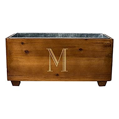 Cathy's Concepts Personalized Wooden Wine Trough, Letter M