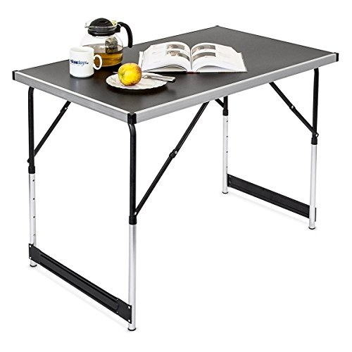 Haushalt International Campingtisch höhenverstellbar Tisch 100x60x73-94 Falttisch