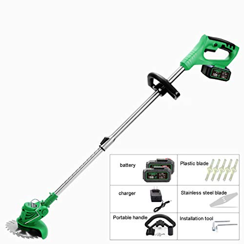 Great Features Of YF-1 Cordless Grass Trimmer with 20V MAX Battery, Charger & Plastic Blades – 180...