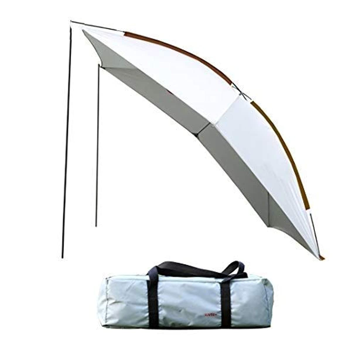 HKTK Awning Outdoor Car Awning/Camping Pergola, Large Event Tent, Portable Sun Shelter with Sun Protection - for Beach, Carport and Barbecue (Color : Grey)