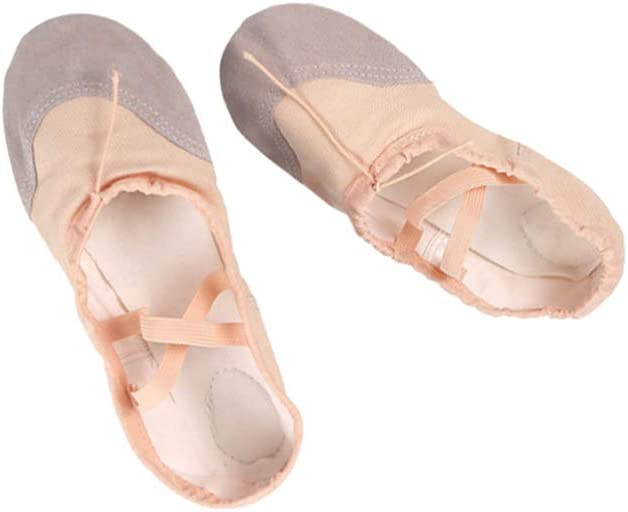 SUPVOX Girl Ballet Shoes Sole Slipper Professional Yoga Split Flats Belly Dance Shoes Gym Shoes Anti Slip for Kids Adults (Size 41)