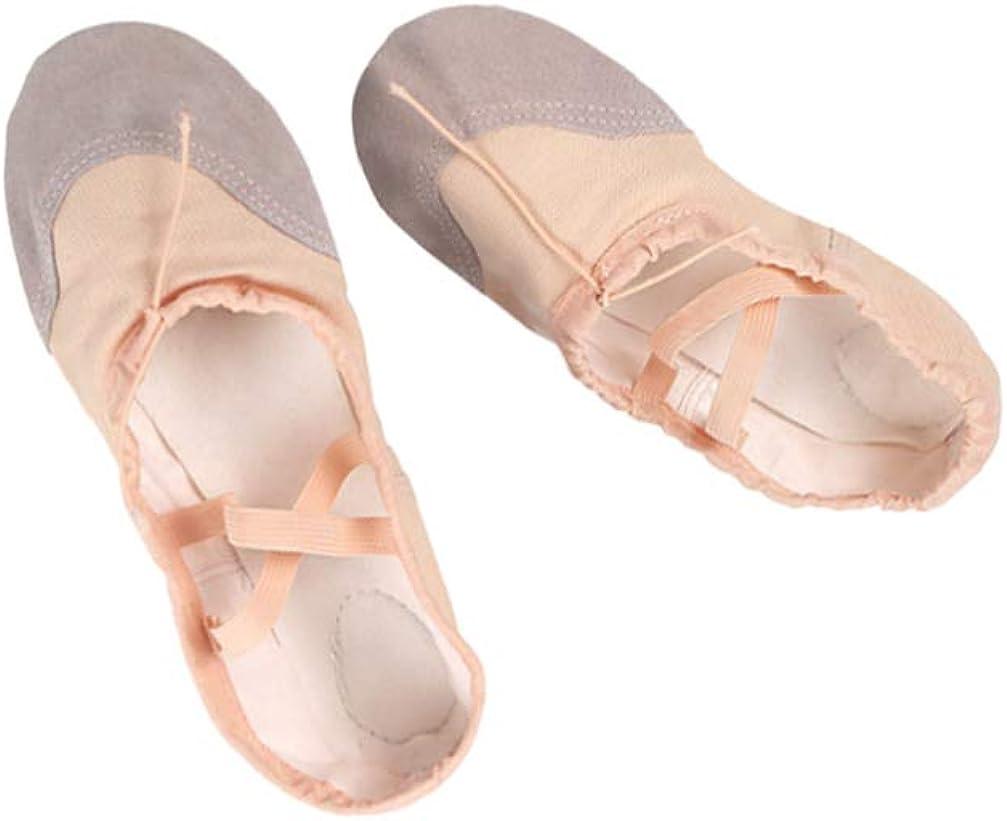 SUPVOX Ballet Flats Shoes Ballet Slippers Pilates Yoga Shoes Dance Gymnastics for Children Adults (Size 22)