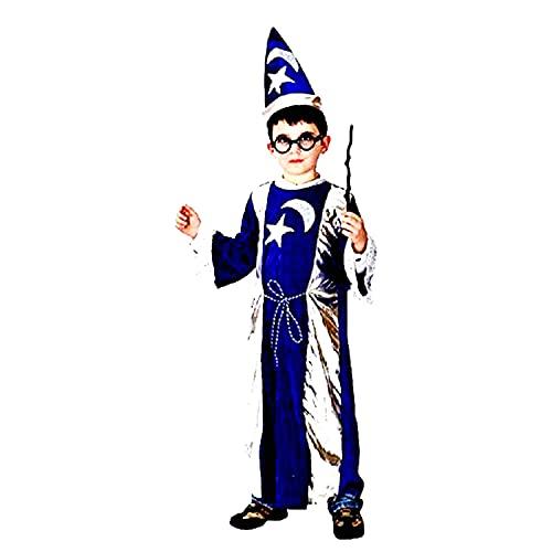 Inception Pro Infinite Disfraz  Disfraz  Carnaval  Halloween  Mago Merlino  Color azul y plata  Nio  Talla XL  8  9 aos  Idea de regalo original
