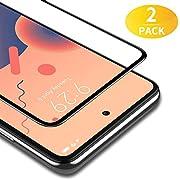 BANNIO Verre Trempé pour Xiaomi Redmi Note 9S / Redmi Note 9 Pro/Redmi Note 9 Pro Max,2 Pièces Couverture Complète Film Protection écran,HD Dureté 9H Vitre Protecteur avec Easy Installation Tool