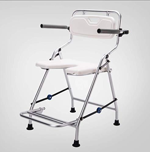 Y-L Ouderlijk opvouwbare badstoel met armleuningen en rugleuning Aluminium Anti-Skid douchestoel voor de Ouderlijk Badende Rolstoel Zwangere Vrouwen Veiligheidsdouchestoel