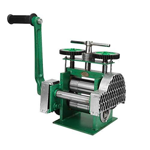 BEAMNOVA Rolling Mill Machine Jewelry Making Manual Hand Crank Tableting Jewelry Press Tool - Upgraded