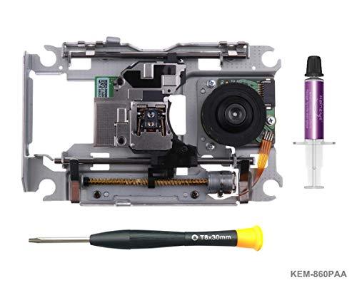 PS4 Láser de Repuesto Mecanismo KEM-860PAA con Lente Lector KES-860, Laser Pieza de Reparación de BLU Ray Unidad con Cabeza óptica, Pasta Térmica, TR8 Destornillador Herramienta de Reparación
