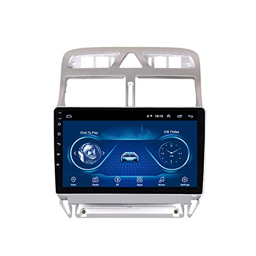 Kilcvt 9 Pulgadas Car Stereo Android 10 IPS 2.5D Car DVD Player GPS Navigation Multimedia, para Peugeot(307) 2002-2013 Soporta Control del Volante/TV/DVD/Am/FM/Bluetooth,WiFi: 2 32g