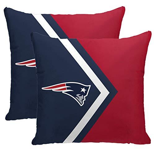Pegasus Sports NFL Side Arrow Poly Span 2 Pack Décor Pillows- New England Patriots