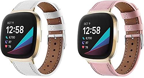 Gransho Correa de Reloj Compatible con Fitbit Versa 3 / Fitbit Sense, Correas Repuesto (diseño de Moda Original) (Pattern 3+Pattern 4)