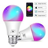 WiFi lampadina led-Lampadina Wifi Intelligente Led Smart Dimmerabile 7W 500Lm,E27 Multicolore...