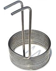 SHENMU Inmersión Wort Chiller Brewing Wort refrigerador de la Cerveza de refrigeración de la Bobina, Espiral de 10 cm de Altura, 10 mm de diámetro de la Bobina Externa/Interna de 8 mm, 10 bobinas