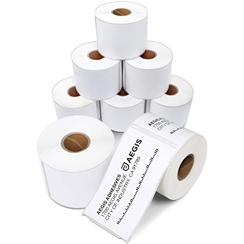 Aegis - Compatible Direct Thermal Labels Replacement for DYMO 30256 (2-5/16 X 4) Shipping - Use with Labelwriter 450, 450 Turbo, 4XL Printers (8 Rolls)