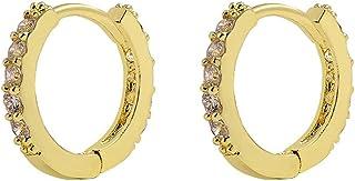 Mini Hoop Earrings for Girls Diamond Earring Ear Cuffs for Women Pierced Stainless Steel Earring for Christmas Birthday Gi...