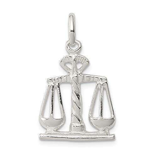 Broche de plata de ley báscula de justicia para pulsera - JewelryWeb