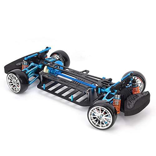 T best RC Auto Rahmen, Radstand Rahmen Carbon Fibre Chassis Stoßstange RC Auto Modell Rahmen für TT01 1/10 RC Auto Modell