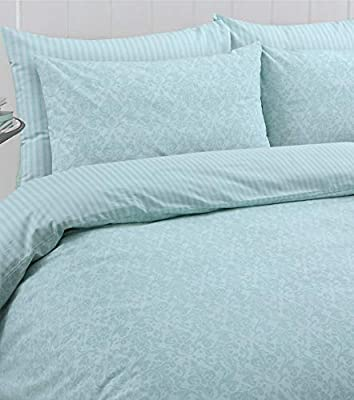 Linen Zone Egyptian Cotton Reversible Printed Duvet Cover Set Oxford Pillow Cases