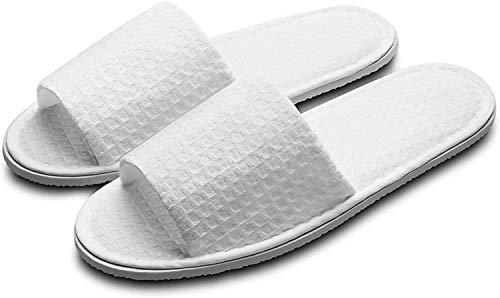 ghjk Zapatillas Blancas Unisex, Antideslizantes de Punta Abierta, adecuados para hoteles en Fiestas de spas y Viajes, etc. Dos tamaños están Disponibles