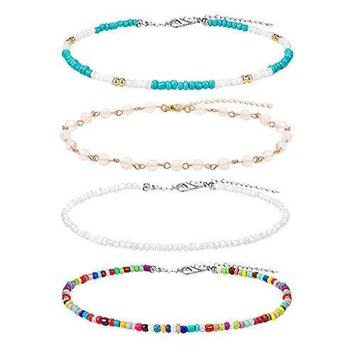 Collar de concha de playa, 4 unidades, gargantilla de concha de mar MELYKA, collar de cadena de moda para mujer, accesorio de joyera y adornos de nias.