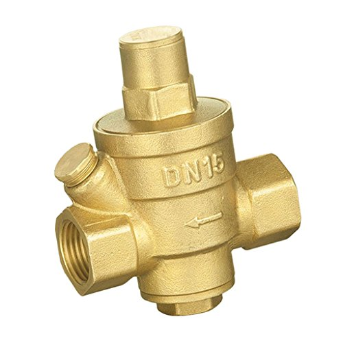 Baoblaze DN20 DN15 Einstellberer Messing Druckregler Wasserdruckminderer Druckventil Regelventil - DN15