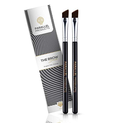Parallel Products - The BROW Brush - (2 Pack) Premium Angled Eyebrow Brush for powder, cream, gel and wax