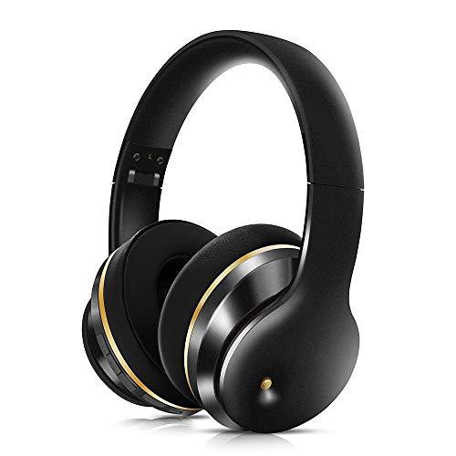 ZED- Auriculares Bluetooth En La Oreja, Auriculares Inalámbricos Estéreo Plegables con Micrófono, Reducción De Ruido Digital Inalámbrica Y Auriculares Cable para Teléfonos Android iPhone/TV/Pc/Mac