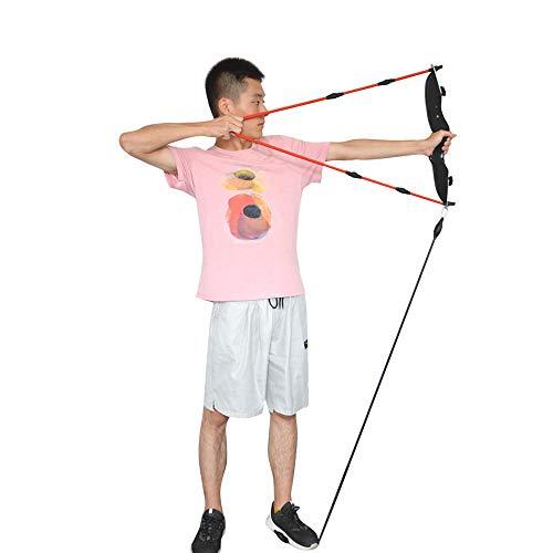 SHARROW Bogenschießen Trainingsgerät Arm Krafttraining Band mit Bogen Riser Bow Trainer Exerciser Holzbogen Armstärke Trainer Puller Bogengriff