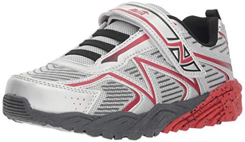 Price comparison product image Avia Boys' Avi-Force II Sneaker,  Chrome Silver / Classic Red / Black / Iron Grey,  2 Medium US Little Kid