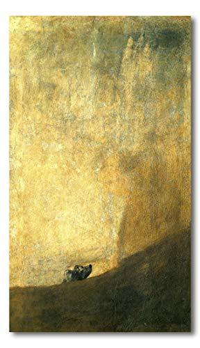 Cuadro Decoratt: El perro - Francisco de Goya 48x83cm. Cuadro de impresión directa.