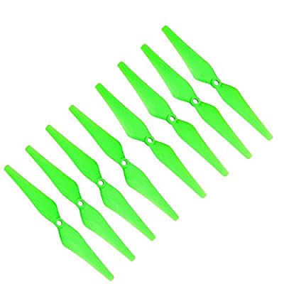 RAYCorp Genuine Gemfan 9443 (9x4.3) Propellers for DJI Phantom 8 Pieces(4CW, 4CCW) Green - Glass Fiber Nylon 9-inch Props Battery Strap from RAYCorp