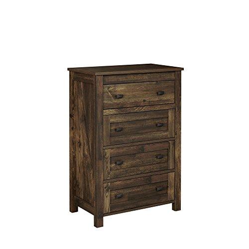 Ameriwood Home Farmington 4, 4 Drawer Dresser, Rustic