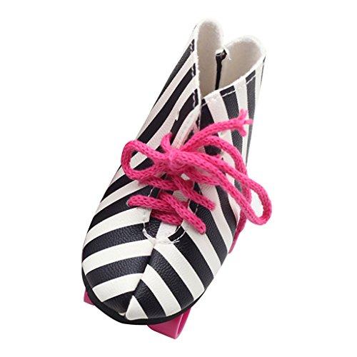 T TOOYFUL Entzückendes Kleid / Unterwäsche / Tasche / Schuhe / Socken Zubehör Für 18 Zoll American Dolls - Schwarz + weiß