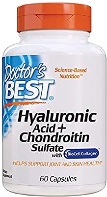 Hyaluronic Acid with Chondroitin Sulfate, Non-GMO, Gluten Free, Soy Free, Joint Support