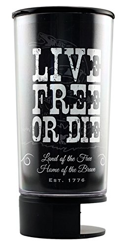 Live Free or Die Spit Bud Portable Spittoon with Can Opener: The Ultimate Spill-Proof Spitter by Spitbud