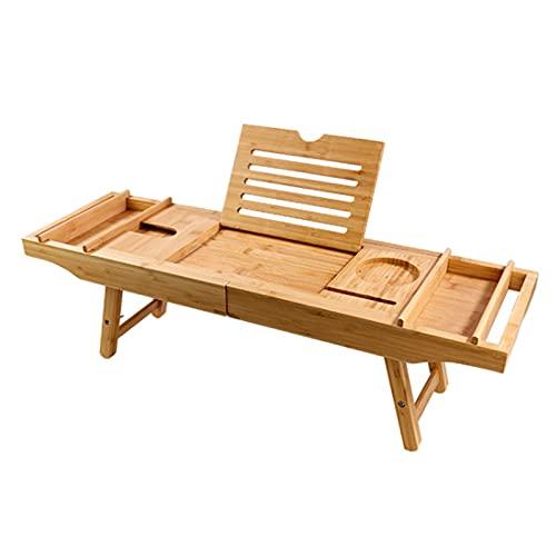 Wede Caddy Bathtub Organize Pallets Telescópico/Ajustable Puente De Madera