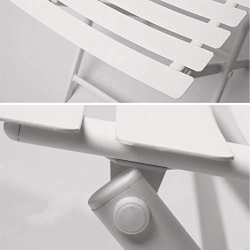 MJY Full Metal Klappstuhl Outdoor und Indoor Lounge Chair 4 Stück Bistro Garden Patio Cafe Klappstuhl Stapelstuhl Kreatives Zuhause,Weiß