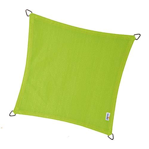 nesling Coolfit Voile D'ombrage (Carré 3,6m x 3,6m x 3,6m x 3,6m, Vert Lime) Protection Solaire, Eau et Vent perméable, Protection UV