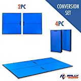 "Indoor Table Tennis Conversion Top with Net Set by Rally & Roar – 2 Piece Set, 5/8"" - Quick Set Up,..."