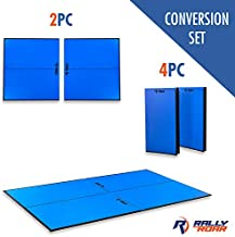 """Rally and Roar Indoor Table Tennis Conversion Top with Net Set – 2 Piece Set, 5/8"""" - Quick Set Up, Portable Tops, Space Saving Storage, Regulation Tournament Size – Family and Friend Game Room Fun"""