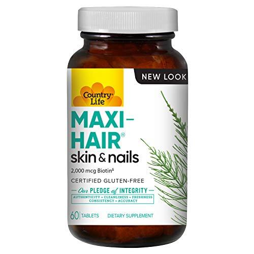 Country Life Maxi-Hair - 90 Tablets - (Pack of 2) - Healthier Hair & Skin - Strong Nails - Vegetarian - B Vitamins - MSM - Biotin