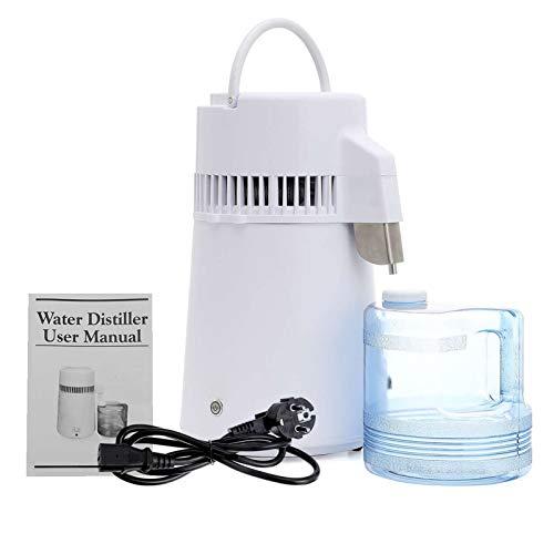 750W Pure Water Distiller-Wasseraufbereitungssystem Filter Wasser Distiller-Maschine Mit Sammelflasche Edelstahl Inner Wasserdestillation Für Heim Aufsatz- Tabelle Desktop-,4l